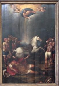 Quadro della conversione di San Paolo posto sull'Altare Maggiore