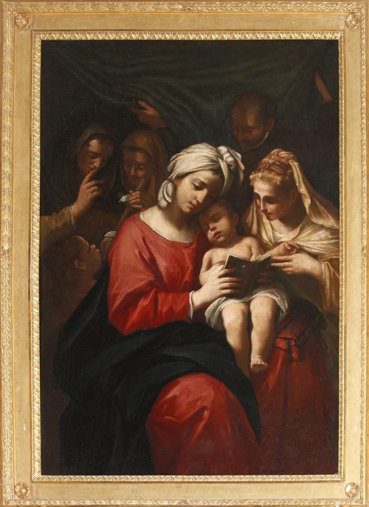 Sacra Famiglia Gesù, Giuseppe, Maria, S. Anna, S. Elisabetta, S. Giovanni e forse S. Elena