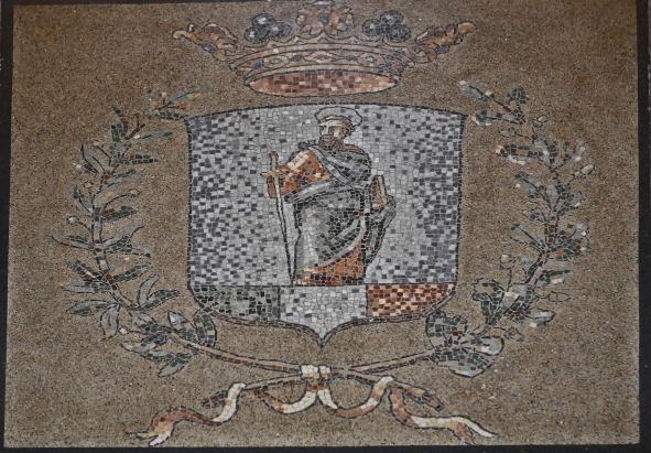 Mosaico con lo stemma di San Paolo