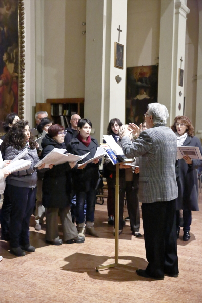 Parte del coro parrocchiale che ha animato la liturgia