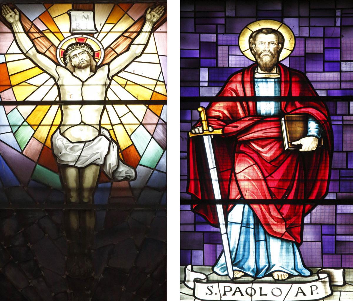 Vetrate del Crocefisso e di San Paolo presso il Santuario della B.V. della Consolazione