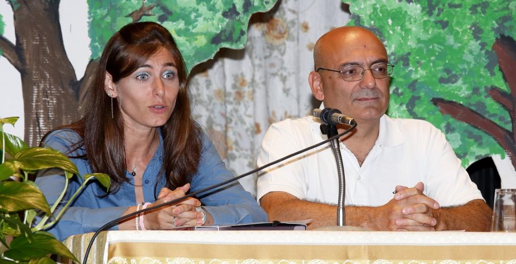 I presentatori della serata Paolo Gherardi e Laura Galassi