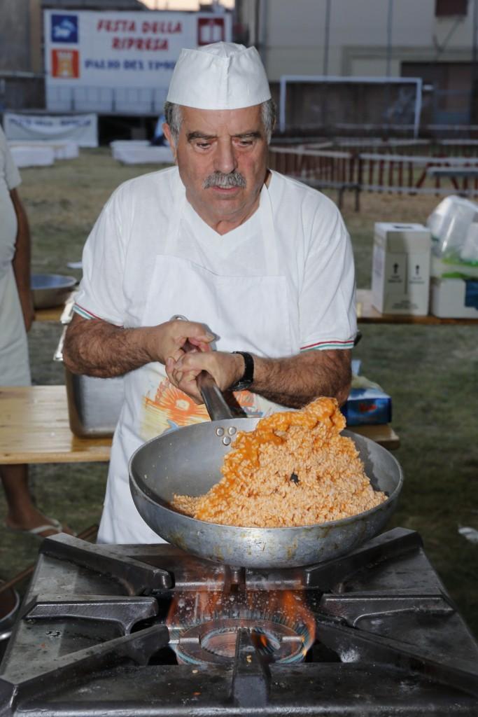 La preparazione del risotto