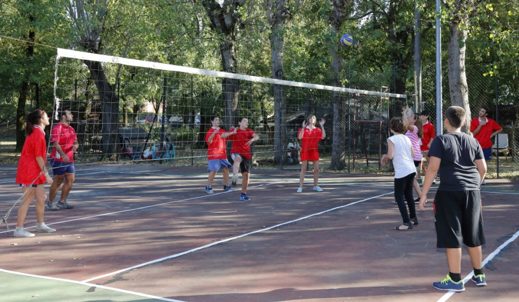 La partita di pallavolo