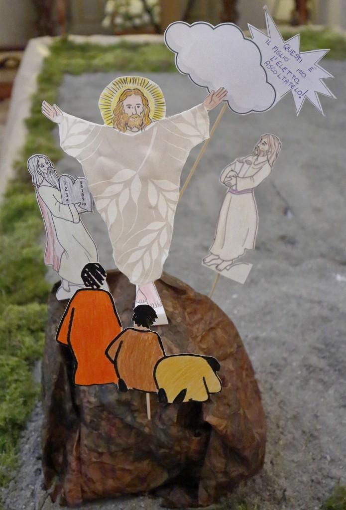 La composizione finita con i vari elementi del Vangelo