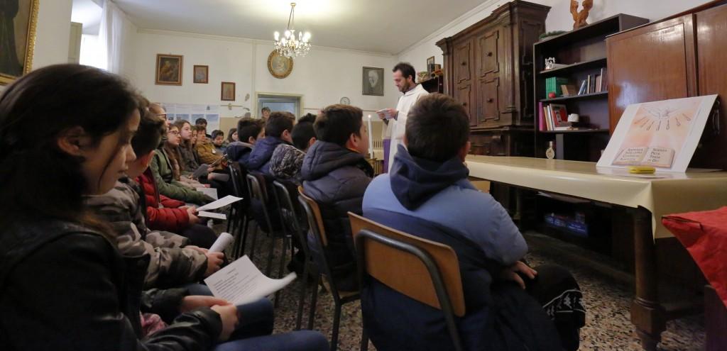 La liturgia della Parola dei ragazzi del quinto anno del catechismo