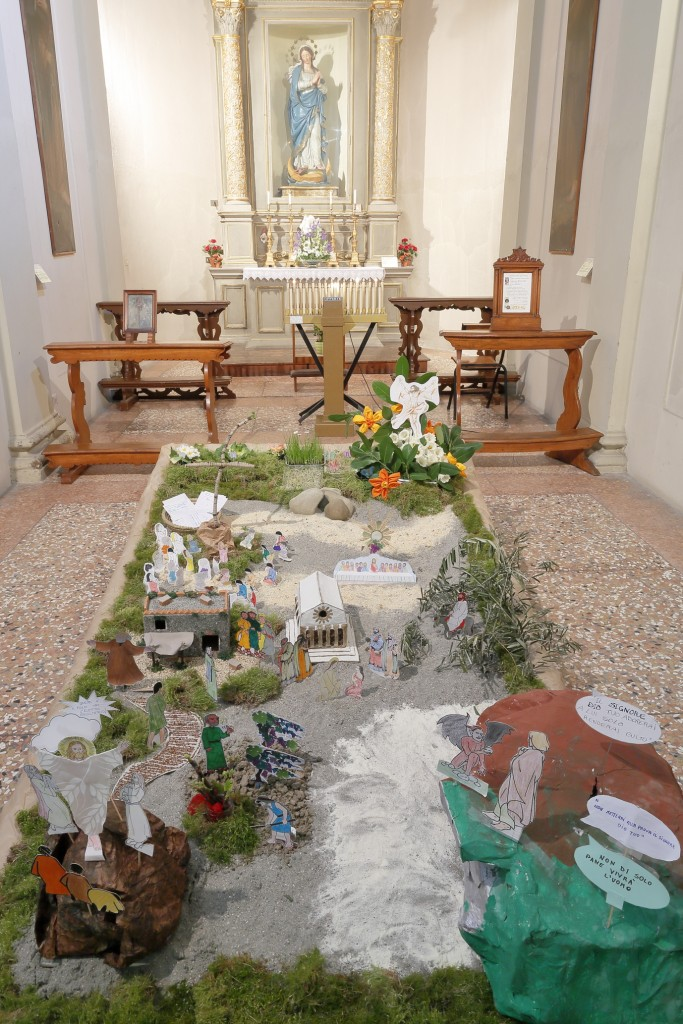 Il Giardino di Pasqua nella cappella dell'Immacolata