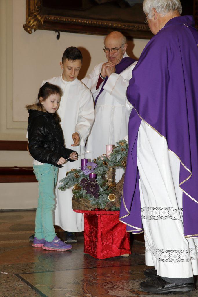 L'accensione della prima candela
