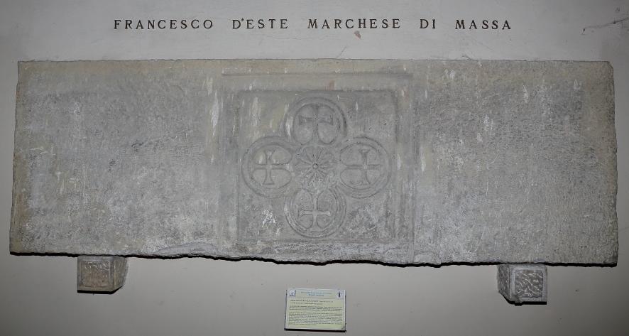 Lapide che ricorda il luogo della sepoltura del Marchese Francesco D'Este