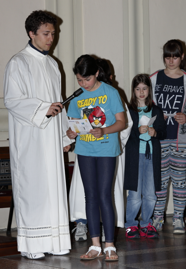 La lettura delle preghiere dei fedeli