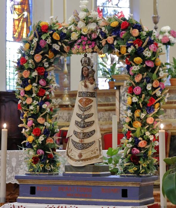 L'immagine della Madonna di Loreto venerata nel Santuario di Passogatto