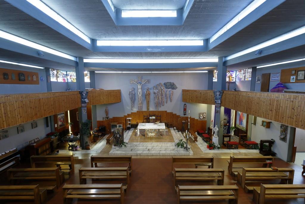 Interno della chiesa di Fruges visto dal matroneo