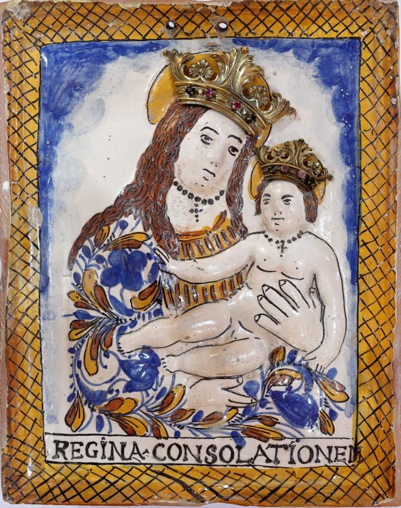 Immagine restaurata della Madonna della Consolazione