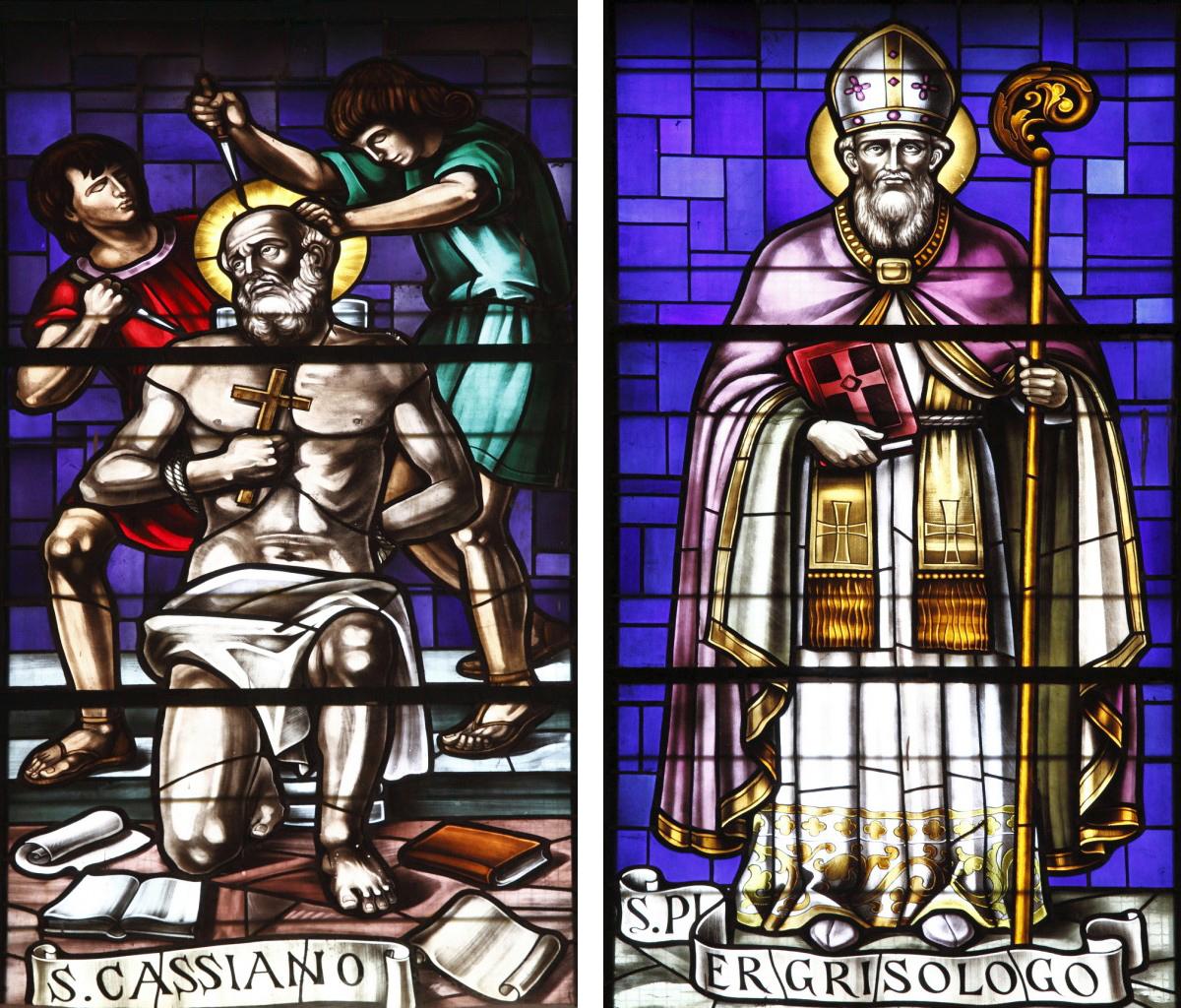 Vetrate di San Cassiano e San Pier Crisologo presso il Santuario della B.V. della Consolazione