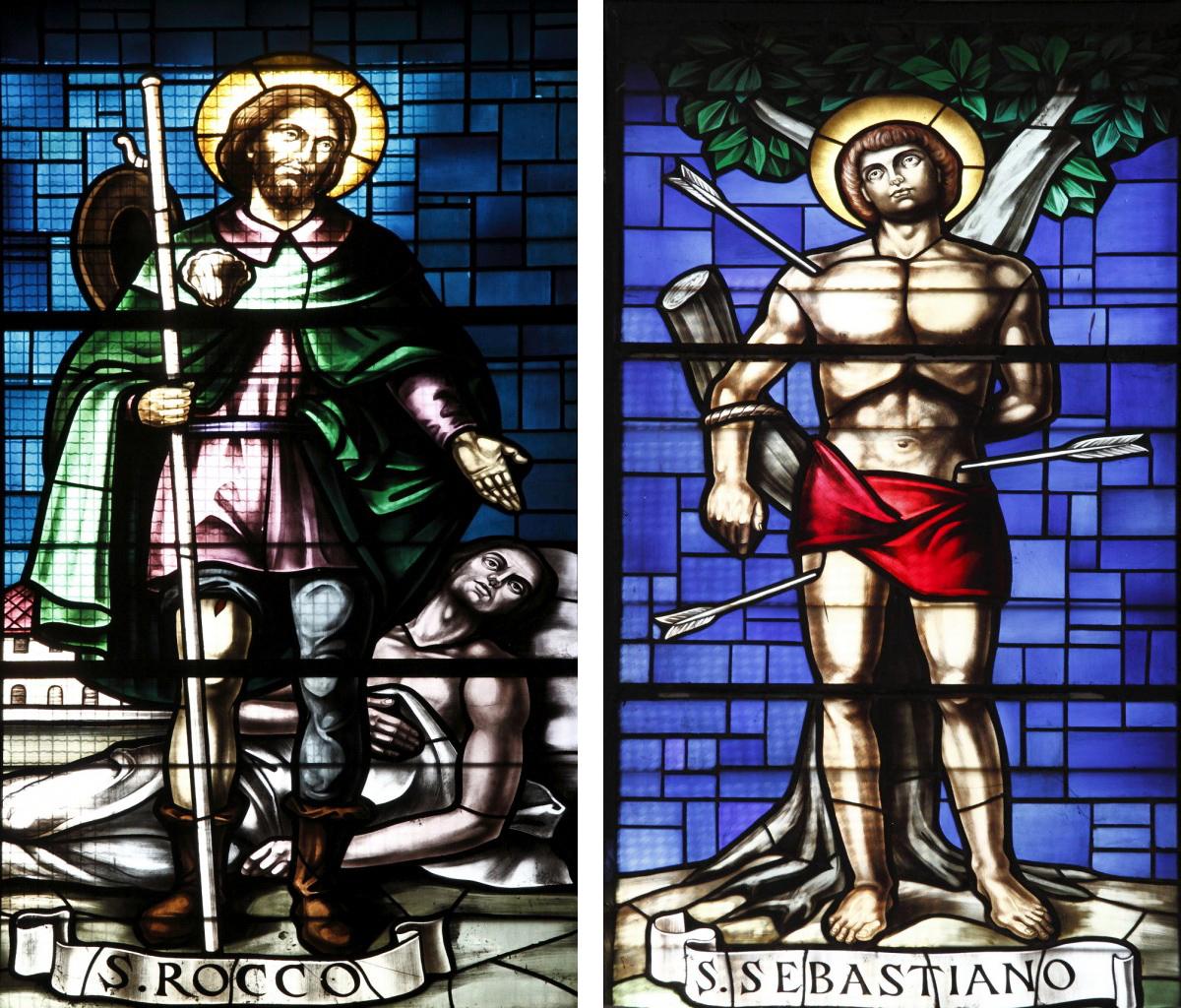 Vetrate di San Rocco e San Sebastiano presso il Santuario della B.V. della Consolazione