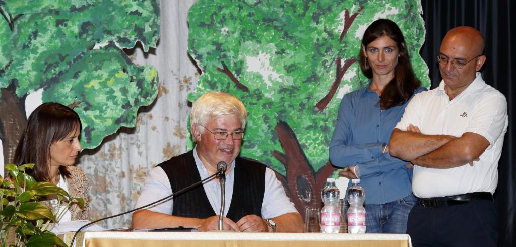 Il saluto del Parroco Don Pietro Marchetti e del Vice Sindaco Carolina Ghiselli