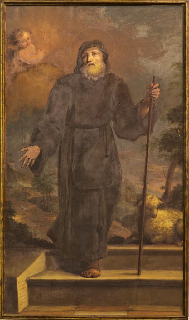Quadro di Sant'Antonio Abate sull'altare di destra