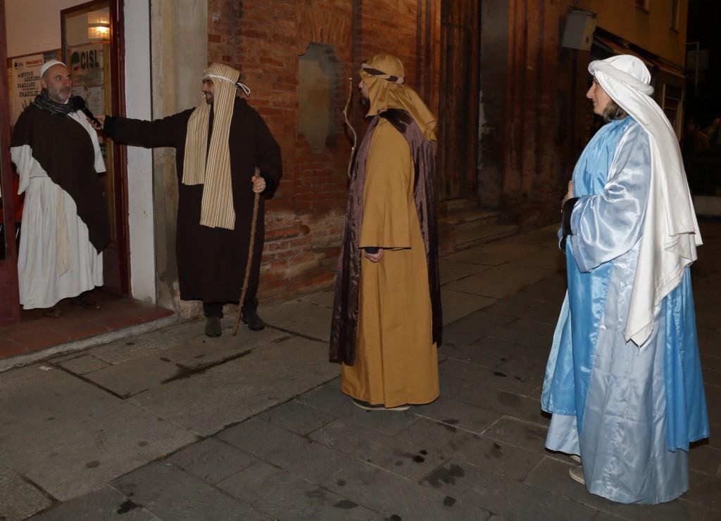 La prima sosta per cercare inutilmente ospitalità a Betlemme