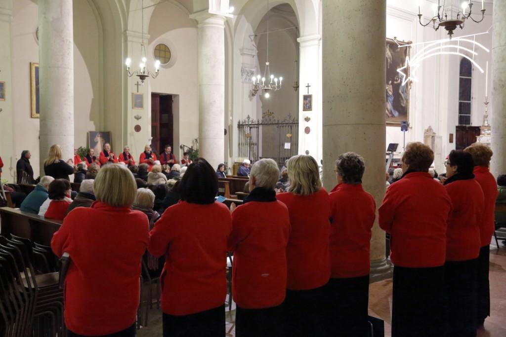 Una particolare esibizione del coro Ettore e Antonio Ricci
