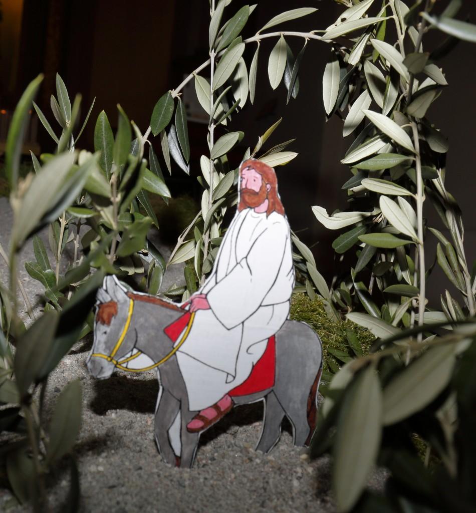 Gesù che entra a Gerusalemme  a cavallo di un asino