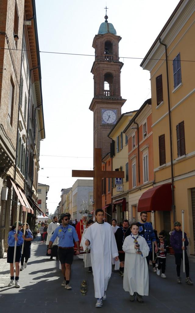 La processione fino alla chiesa di San Paolo