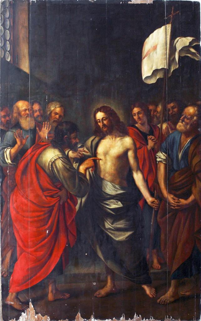 Il quadro di San Tommaso nella cappella dell'Immacolata