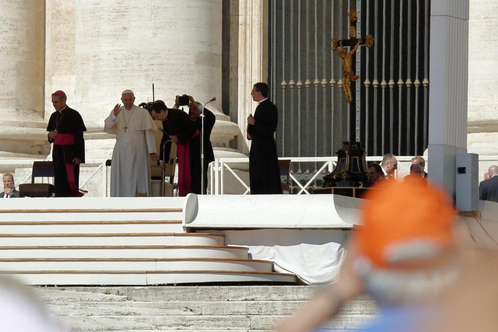 Il papa si appresta all'udienza