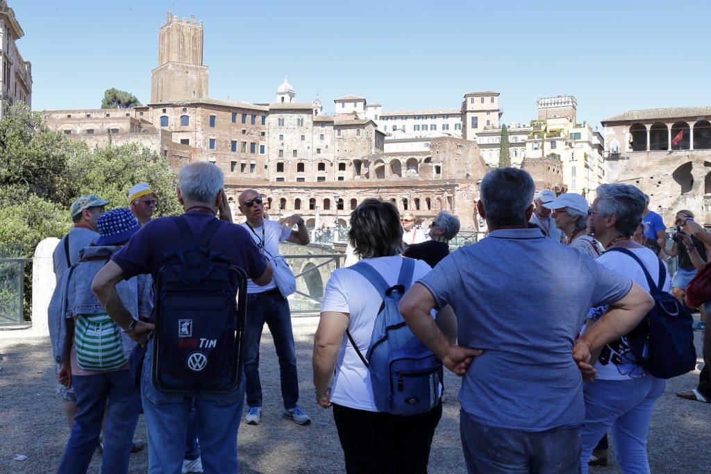La vista sui vari fori romani