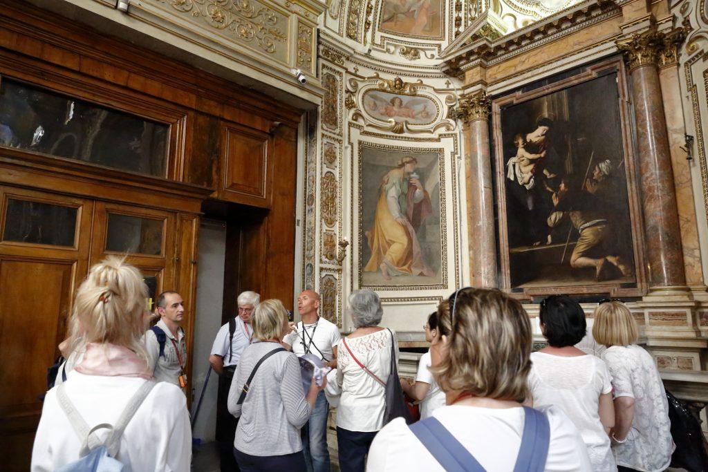 Madonna dei pellegrini del Caravaggio in Sant'Agostino