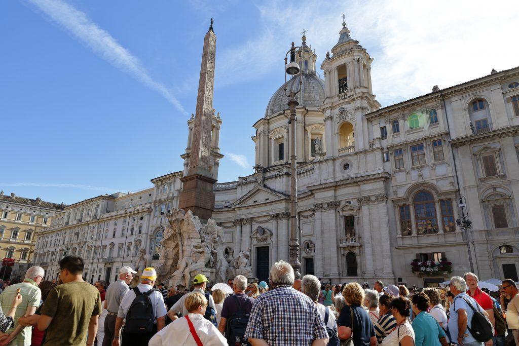 Piazza Navona con la fontana del Bernini e Sant'Agnese in Agone