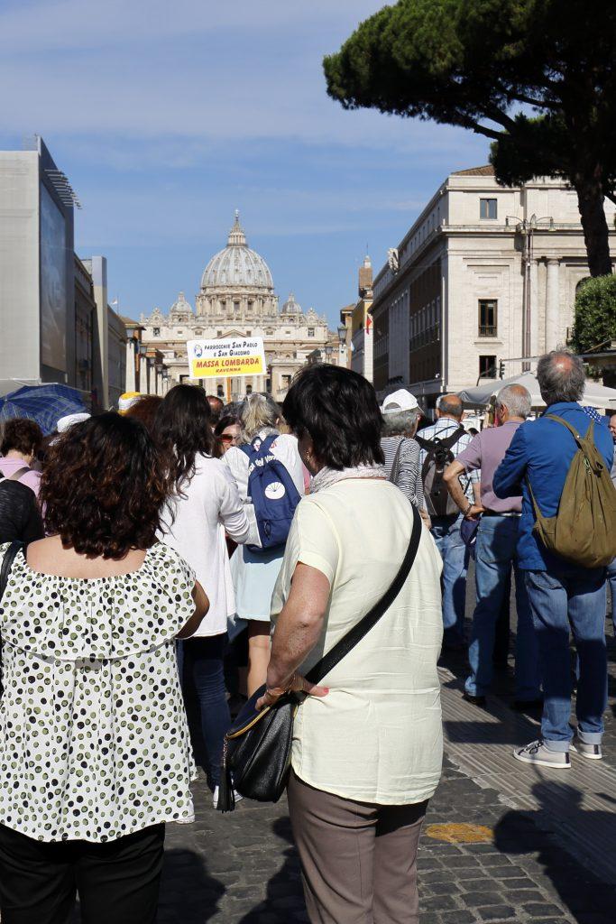 In partenza verso San Pietro