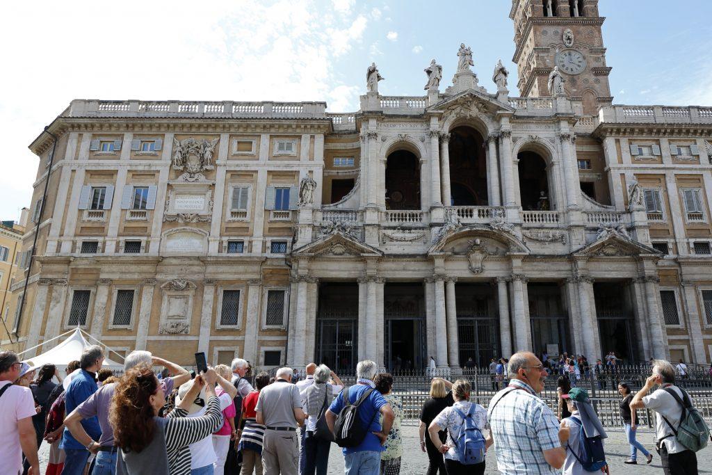 L'arrivo a Santa Maria Maggiore