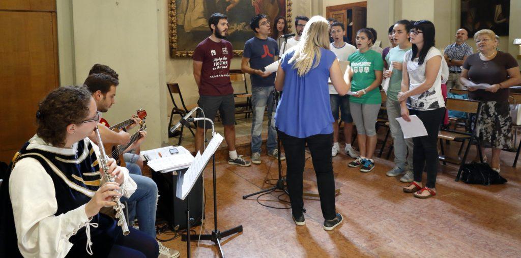 Il coro che ha animato i canti liturgci