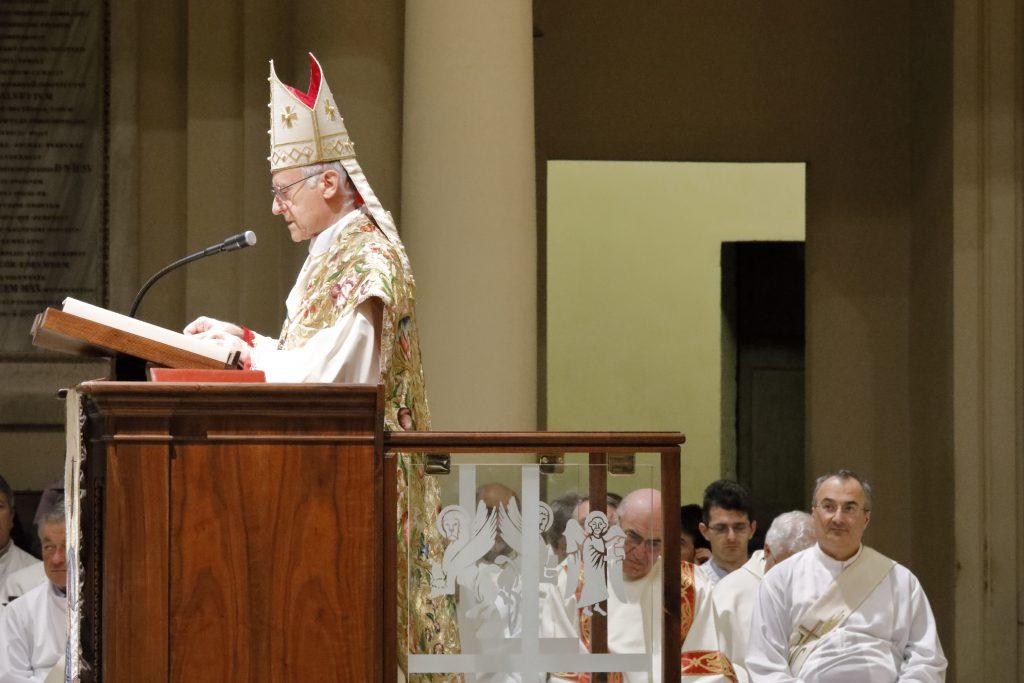 Alcuni momenti dell'ordinazione di Don Angelo nella cattedrale di Imola