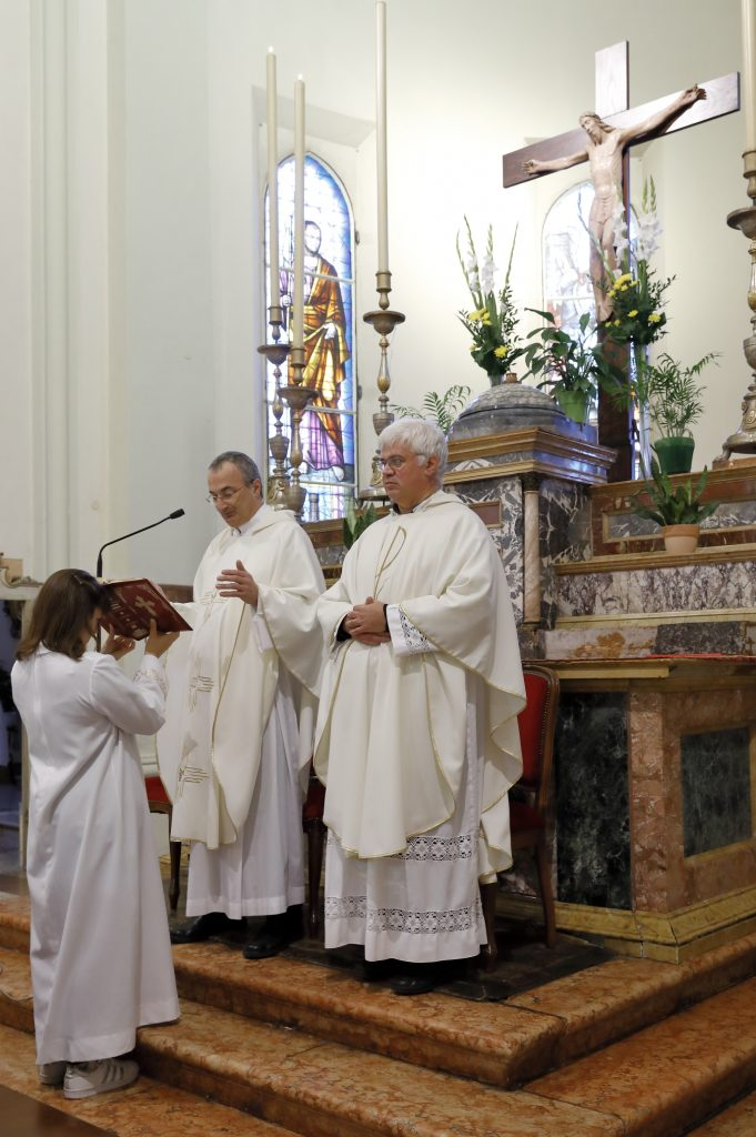 Don Angelo alla prima Santa Messa a Massa Lombarda