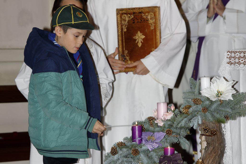 L'accensione della seconda candela.