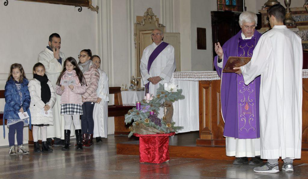 I bambini del catechismo e dell'Azione Cattolica che hanno letto le invocazioni.